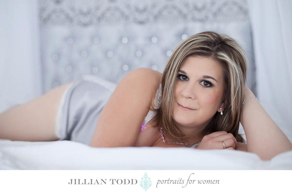 Sacramento Glamour Portraits on Bed