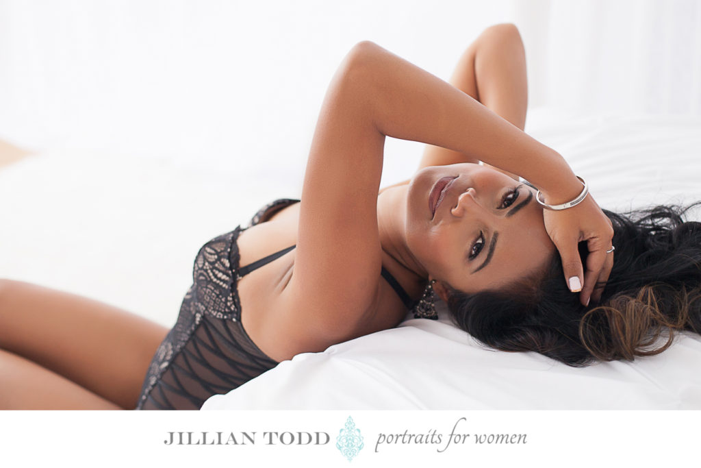 Granite-Bay-boudoir-photo-woman-on-white-bed