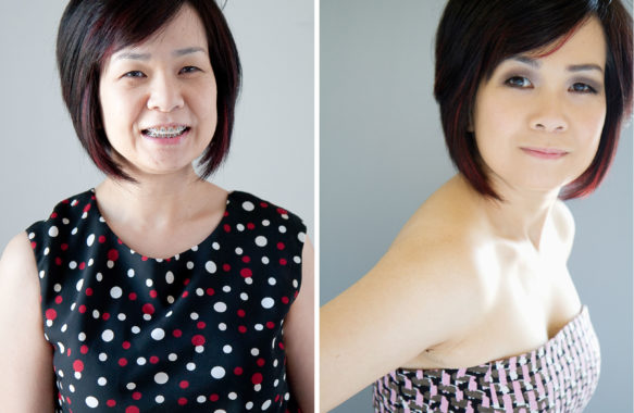 makeover and photo shoot