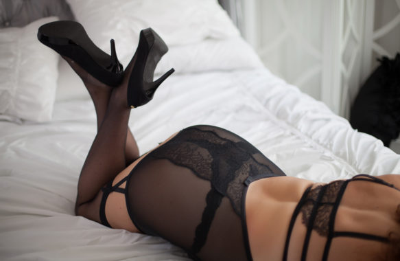 anonymous boudoir photo shoes and lingerie