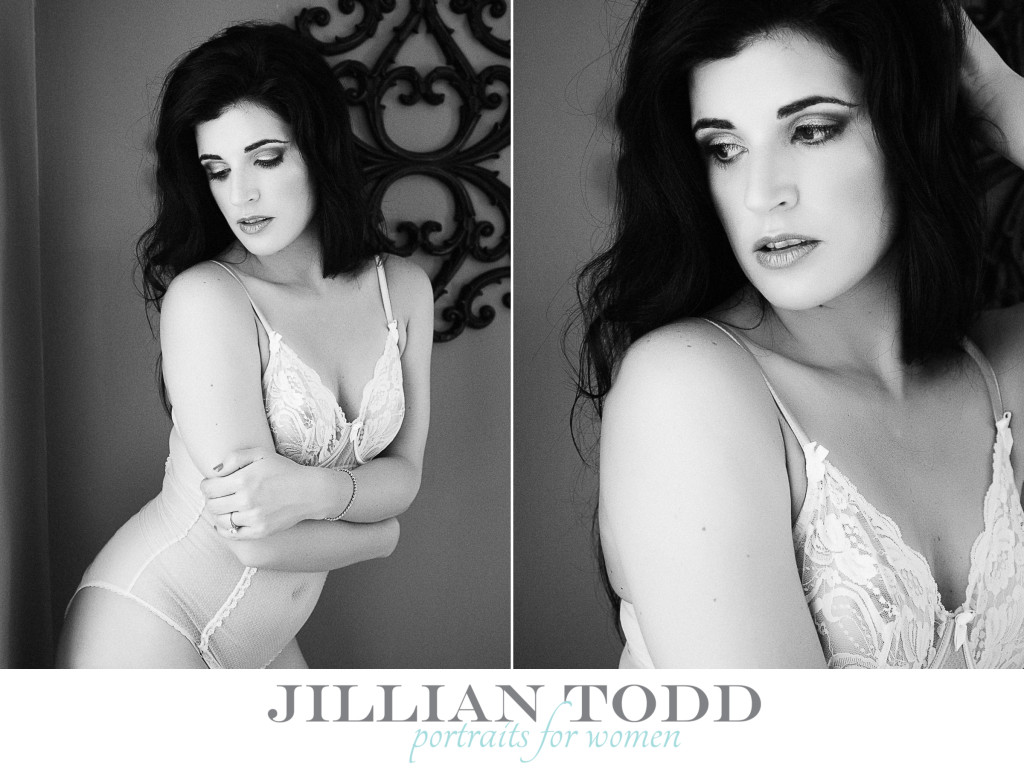 black and white boudoir