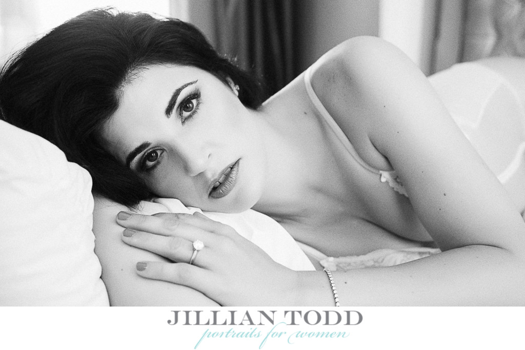 black and white bridal boudoir photography located in sacramento