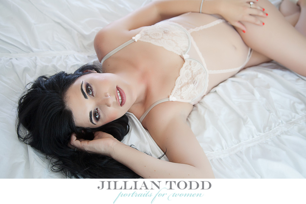 beautiful, sexy bride in a bodysuit. Bridal Boudoir in Sacramento