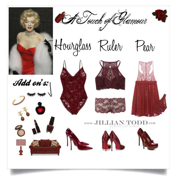 Red boudoir outfits