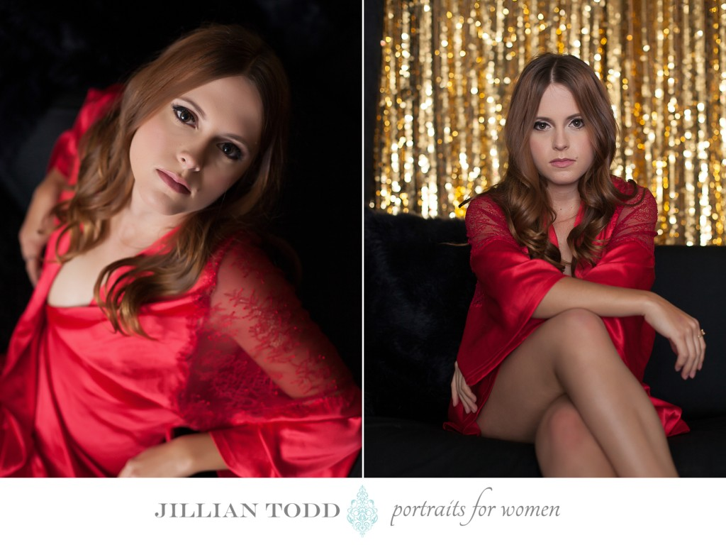 boudoir photography sexy red robe