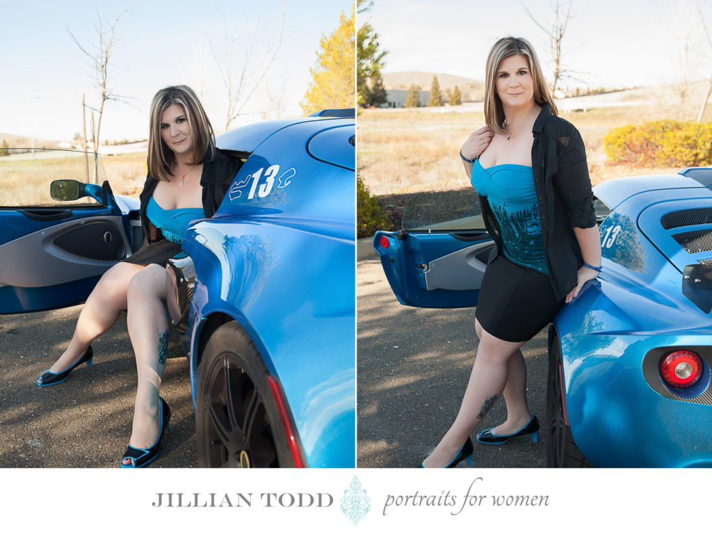 Sacramento Glamour portraits with a car