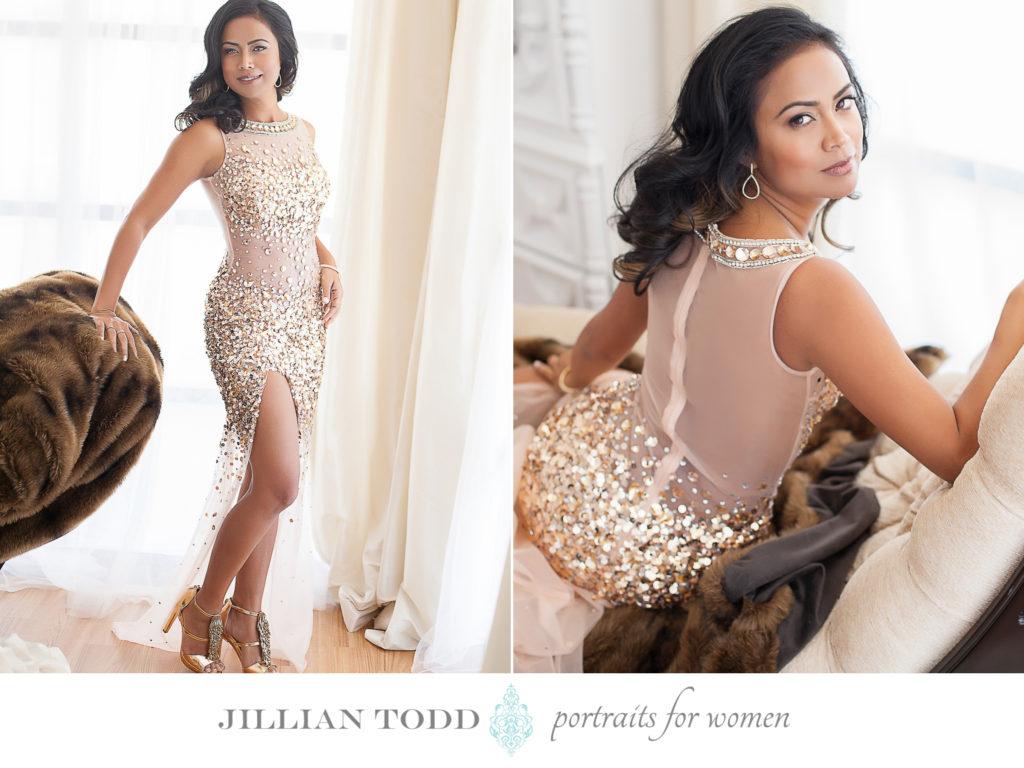 granite-bay-boudoir-photo-of-glamorous-woman-in-gold-dress