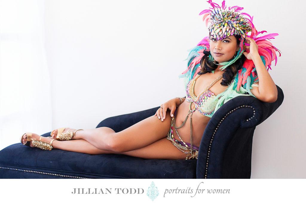 Granite-Bay-boudoir-studio-shoot-with-carnival-dancer