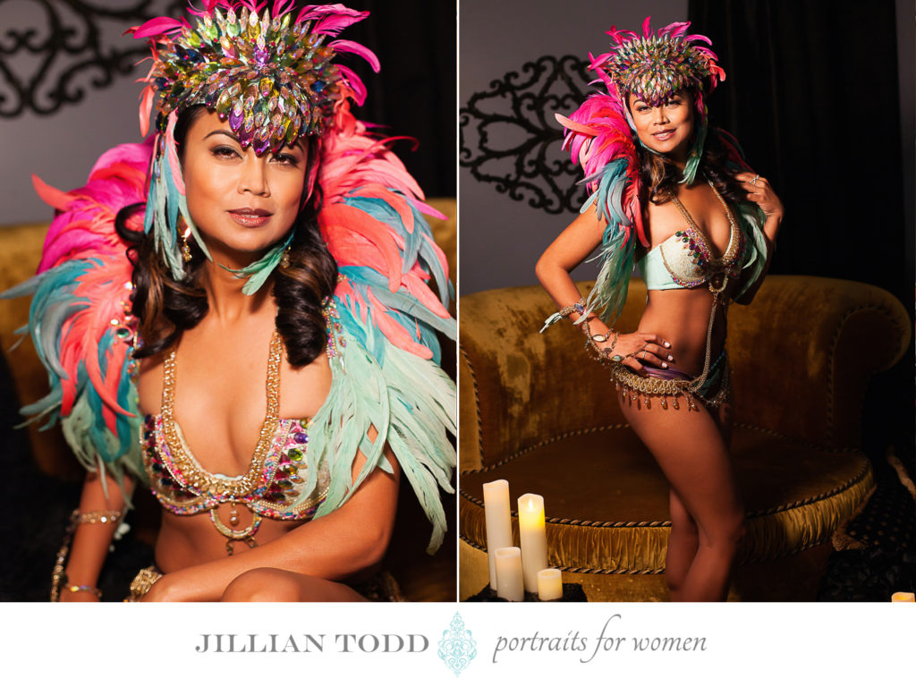 Granite-Bay-boudoir-photo-of-carnival-dancer-with-candles